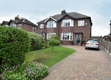 Thumbnail 3 bed semi-detached house for sale in Church Lane, Woodford, Stockport