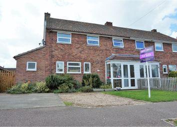 Thumbnail 3 bed semi-detached house for sale in Hereward Avenue, Bury St. Edmunds