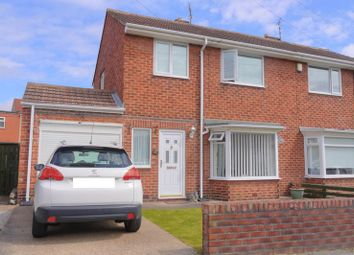 Thumbnail 3 bed semi-detached house for sale in Moorland Drive, Bedlington