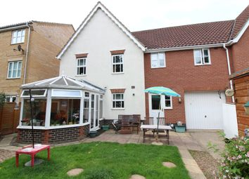 Thumbnail 4 bedroom link-detached house for sale in Beaufort Close, Norwich