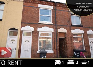 Thumbnail 3 bed terraced house to rent in Sheffield Street, Leicester