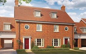 Thumbnail 4 bed semi-detached house for sale in Silfield Road, Wymondham