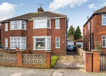 Thumbnail 3 bed semi-detached house for sale in Hutton Avenue, Darlington