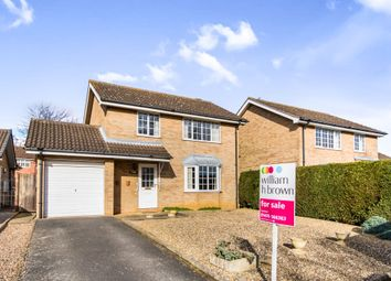 Thumbnail 3 bed detached house for sale in Wells Close, Grantham