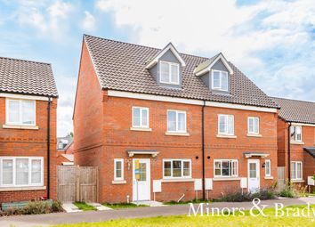 Thumbnail 4 bed town house for sale in Muskett Way, Aylsham, Norwich