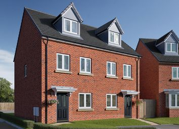 "Thumbnail 3 bed semi-detached house for sale in ""The Wyatt"" at Roecliffe Lane, Boroughbridge, York"