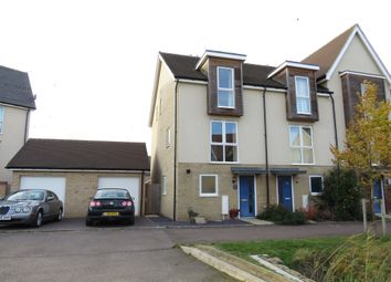 Thumbnail 3 bed end terrace house for sale in Beaufort Road, Upper Cambourne, Cambridge