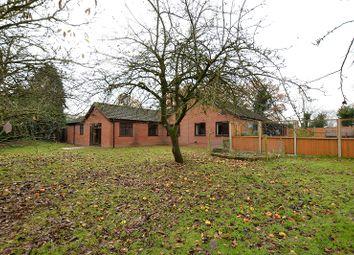 Thumbnail 4 bedroom bungalow for sale in Dereham Road, Westfield, Dereham, Norfolk.