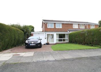 Thumbnail 3 bed semi-detached house for sale in Uldale Court, Kingston Park, Newcastle Upon Tyne