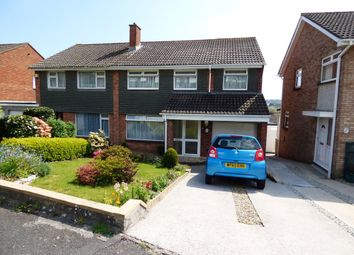 Thumbnail 4 bed semi-detached house for sale in Waddon Close, Plympton, Plymouth