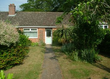 Thumbnail 2 bed terraced bungalow for sale in Francis Road, Long Stratton, Norwich