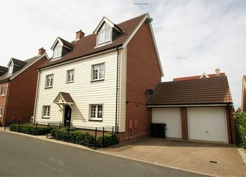 Thumbnail 5 bedroom detached house for sale in Haggerwood Way, Stansted