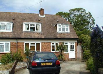 Thumbnail 2 bed semi-detached house to rent in Foxholes, Weybridge, Surrey