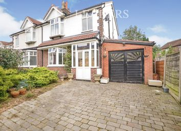 Thumbnail 3 bed semi-detached house to rent in Burnham Drive, Burnage, Manchester