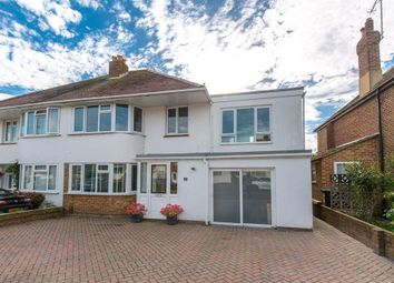 Thumbnail 4 bed semi-detached house for sale in Glebeside Avenue, Worthing, West Sussex