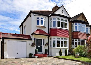 Thumbnail 3 bed semi-detached house for sale in Barnfield Avenue, Shirley, Surrey