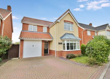 Thumbnail 4 bed detached house for sale in Tizzick Close, Norwich