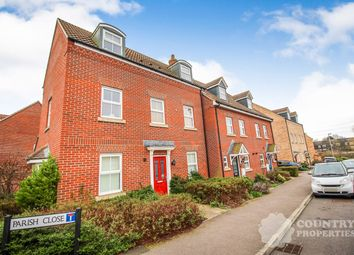 Thumbnail 3 bed town house for sale in Parish Close, Bedford