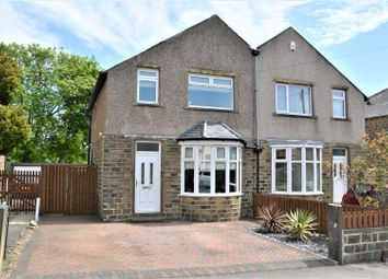 Thumbnail 3 bedroom semi-detached house for sale in Quarmby Road, Quarmby, Huddersfield