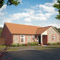Thumbnail 3 bedroom bungalow for sale in Nightjar Road, Holt