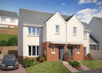 """Thumbnail 3 bed semi-detached house for sale in """"The Grovedale"""" at Vicarage Hill, Kingsteignton, Newton Abbot"""