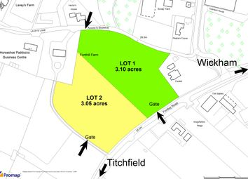 Thumbnail Land for sale in Fontley Road, Wickham/Titchfield