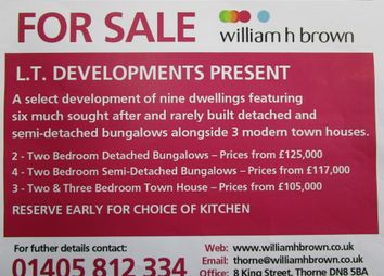 Thumbnail 3 bed town house for sale in St Georges Road, Thorne, Doncaster