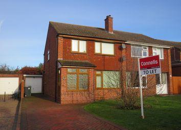Thumbnail 3 bed semi-detached house to rent in Ashford Gardens, Whitnash, Leamington Spa