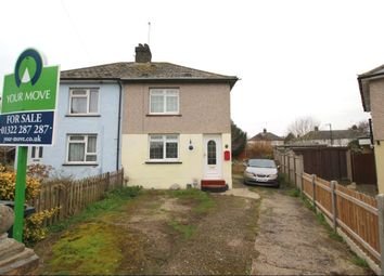 Thumbnail 2 bed semi-detached house for sale in Chestnut Road, Dartford