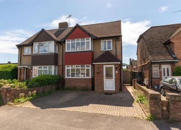 Thumbnail 4 bed semi-detached house for sale in Molesey Close, Hersham, Surrey