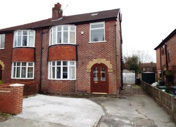 Thumbnail 4 bed semi-detached house for sale in Claremont Avenue, Marple, Stockport, Greater Manchester