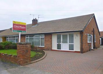 Thumbnail 3 bed semi-detached bungalow to rent in Wallcroft, Neston
