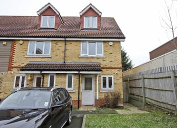 Thumbnail 3 bed town house to rent in Poppy Close, Northolt, Middlesex
