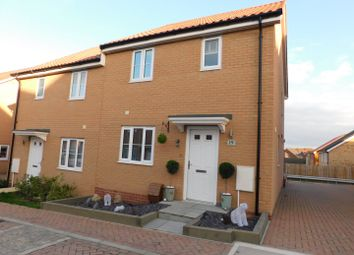 Thumbnail 3 bed semi-detached house for sale in Popular Road, Great Blakenham, Ipswich