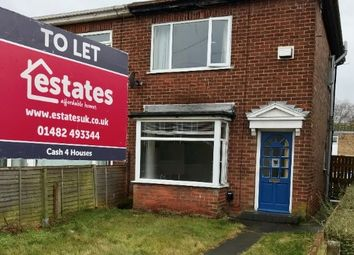 Thumbnail 2 bedroom semi-detached house to rent in Cradley Road, Hull