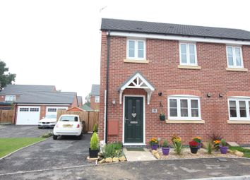 Thumbnail 3 bed semi-detached house for sale in Wright Road, Stoney Stanton, Leicester