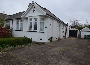 Thumbnail 2 bed semi-detached bungalow to rent in Lydford Close, Cardiff