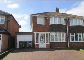 Thumbnail 3 bed semi-detached house to rent in Rowlands Crescent, Solihull