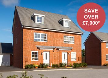 """Thumbnail 4 bed semi-detached house for sale in """"Kingsville"""" at Musselburgh Way, Bourne"""