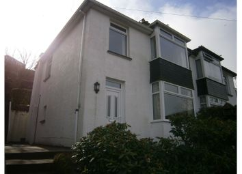 Thumbnail 3 bed semi-detached house for sale in Downs Road, Looe
