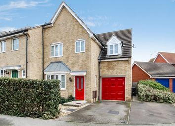 Thumbnail 4 bed end terrace house for sale in Fieldfare Close, Stowmarket