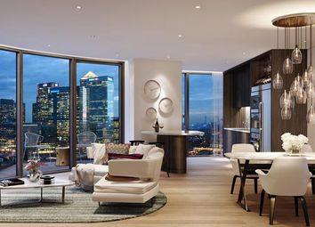 Thumbnail 3 bed flat for sale in Charrington Tower, Fairmont Avenue, Canary Wharf, London