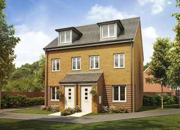 "Thumbnail 3 bed town house for sale in ""The Souter "" at Goshawk Green, Leighton Buzzard"