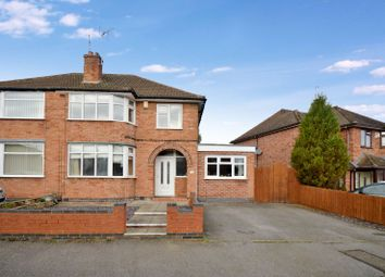 Thumbnail 3 bed semi-detached house for sale in Ashbourne Road, Wigston, Leicester