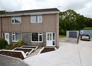 Thumbnail 2 bed semi-detached house for sale in St. Lukes Close, Llanharan, Pontyclun