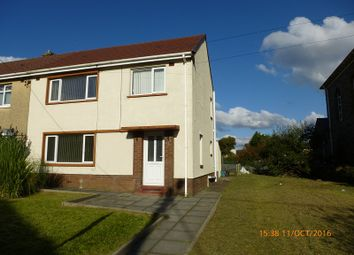 Thumbnail 3 bed semi-detached house to rent in Heol Cae Gurwen Gwaun Cae Gurwen, Ammanford, Carmarthenshire.