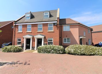 Thumbnail 3 bed town house for sale in Hornbeam Drive, Dereham