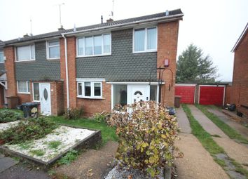 Thumbnail 3 bedroom end terrace house for sale in Porlock Drive, Luton