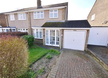 Thumbnail 3 bed semi-detached house for sale in Poppy Close, Pilgrims Hatch, Brentwood, Essex