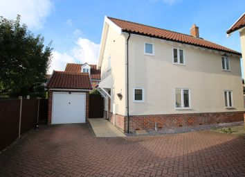 Thumbnail 3 bed detached house for sale in Grapes Close, Attleborough
